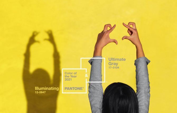 giallo e grigio: ecco i colori pantone 2021